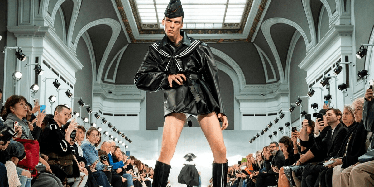 Male Model Goes Viral For His Extreme Runway Stomp During Paris Fashion Week