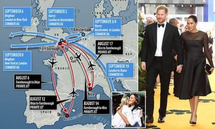 Prince Harry and Meghan Markle take their NINTH flight in six weeks | Daily Mail Online