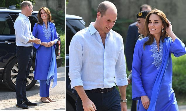Prince William and Kate Duke and Duchess of Cambridge start Pakistan tour with school visit | Daily Mail Online