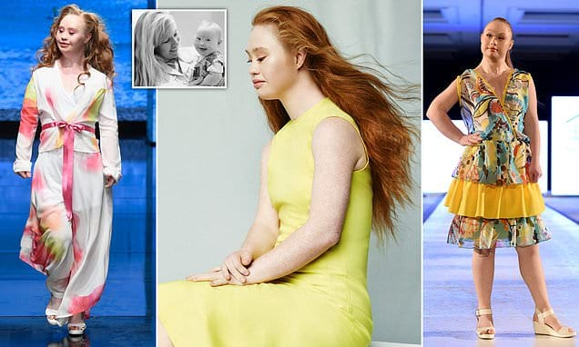 The world's first professional catwalk model with Down's | Daily Mail Online