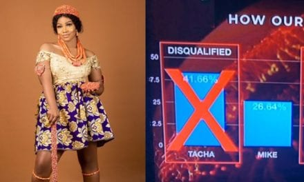 Celebrities react after Tacha won last weeks's BBNaija voting with a very huge gap even though she was already disqualified