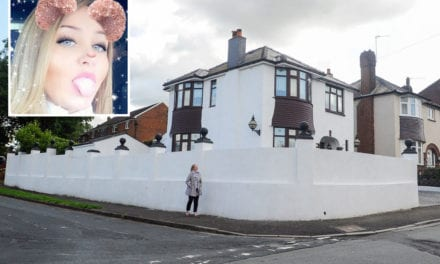 Mum wins battle to keep 10ft-high 'Riviera-style' white wall around her Newport house