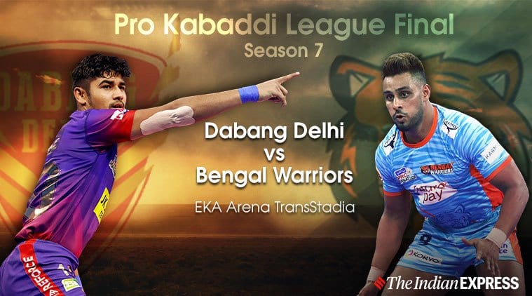Pro Kabaddi 2019 Last Highlights: Bengal Warriors lift title after triumphing over Dabang Delhi|Sports News, The Indian Express