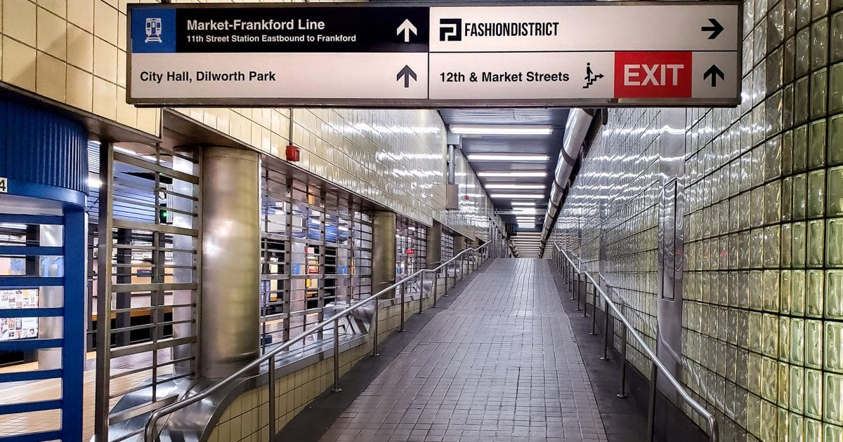 You can walk underground from the Gallery to the Comcast. Here's exactly how to do it.