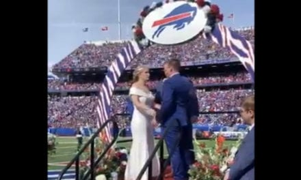 These Bills fans who got married in the middle of a game are wedding geniuses > Latest World Sports News