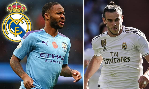 Real Madrid 'to offer £70m AND Gareth Bale' in bid to sign Raheem Sterling from Manchester City | Daily Mail Online