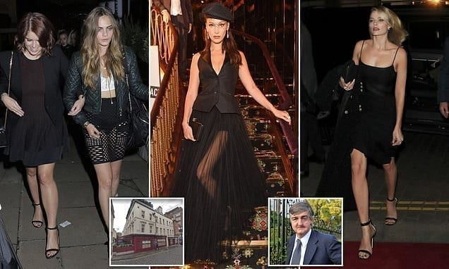 Staff strike for £10.55-an-hour at London club beloved by celebrities | Daily Mail Online