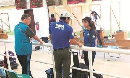 Father an electrician at shooting range, daughter wins Olympic quota | Sports News, The Indian Express