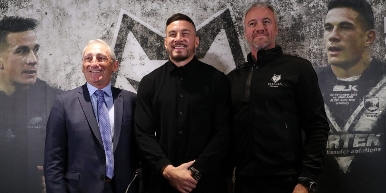 Sonny Bill Williams is unveiled by his new Canadian side… in London