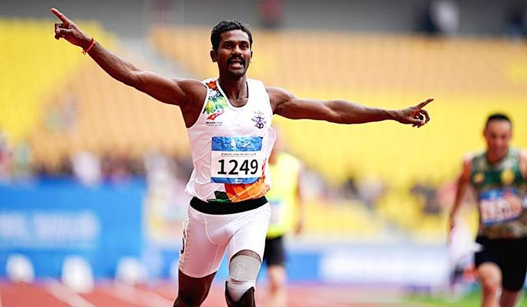 After shedding leg at LoC, blade jogger salutes second life– with three-way gold|Sports News, The Indian Express