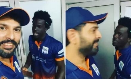 Watch: Yuvraj Singh laughs uncontrollably as West Indies' Chadwick Walton speaks Punjabi|Sports Information, The Indian Express