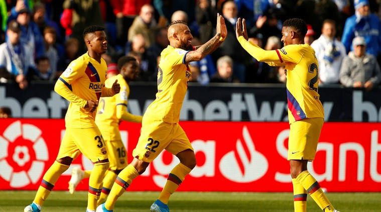 Arturo Vidal's scrappy goal offers slow Barcelona victory at Leganes Sports Information, The Indian Express