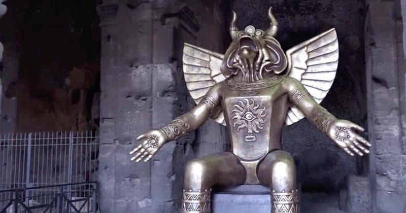 A Child Sacrifice God Now On Display In Rome Raises Questions About Elite Pedophilia & Ritual Abuse