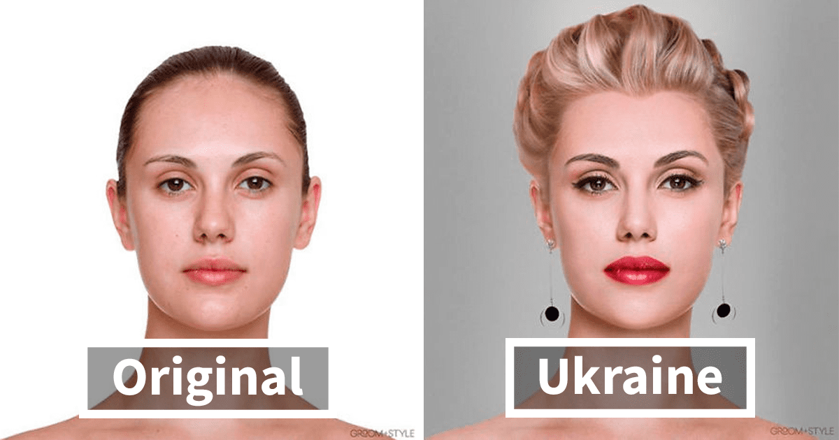 People From Around The World Edited These Man And Woman Headshots To Look Trendy In Their Country (27 Pics)