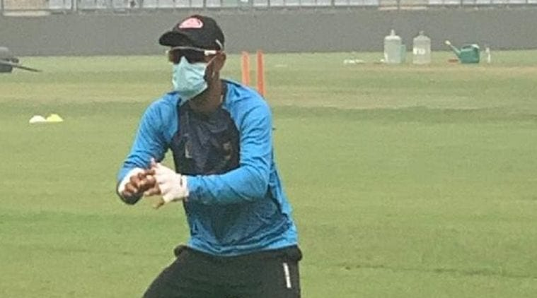 Rohit Sharma asserts New Delhi air no worry as Liton Das briefly wears mask at training|Sports Information, The Indian Express