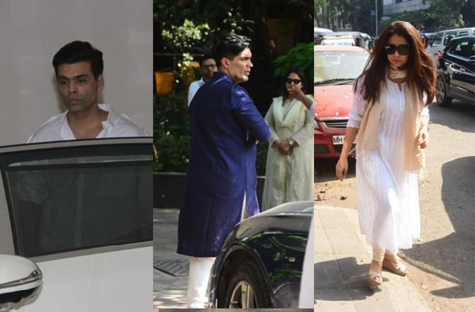 Manish Malhotra's father passes away, Bollywood celebrities arrive to offer condolences