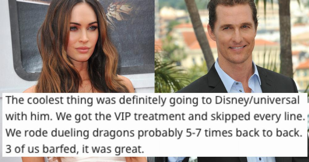 23 people related to celebrities share what it's like at family gatherings.