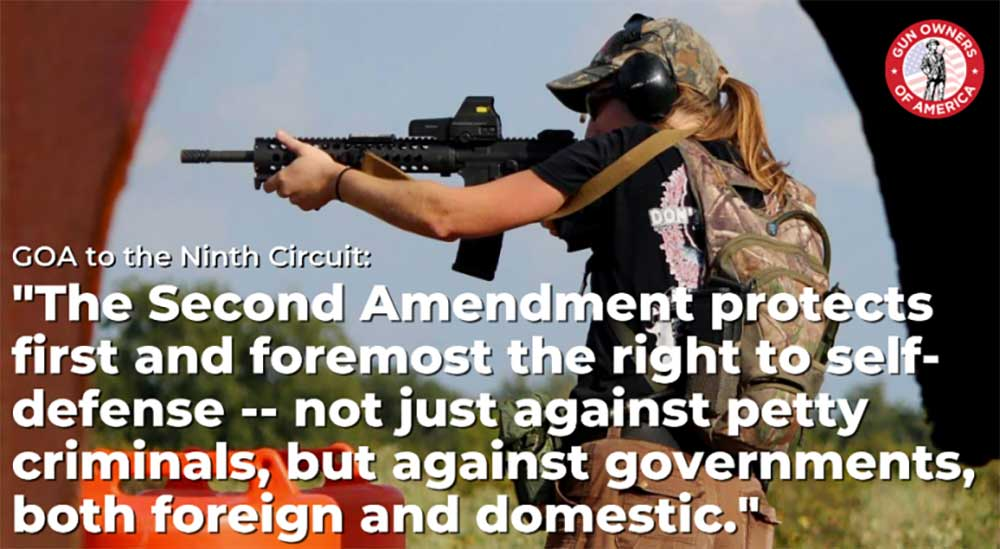 """GOA Brief Refutes Bans on """"Military-Style"""" Firearms, Components"""
