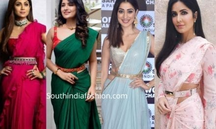 Buckle Up Your Sarees With 5 Types Of Belts Like The Celebrities!