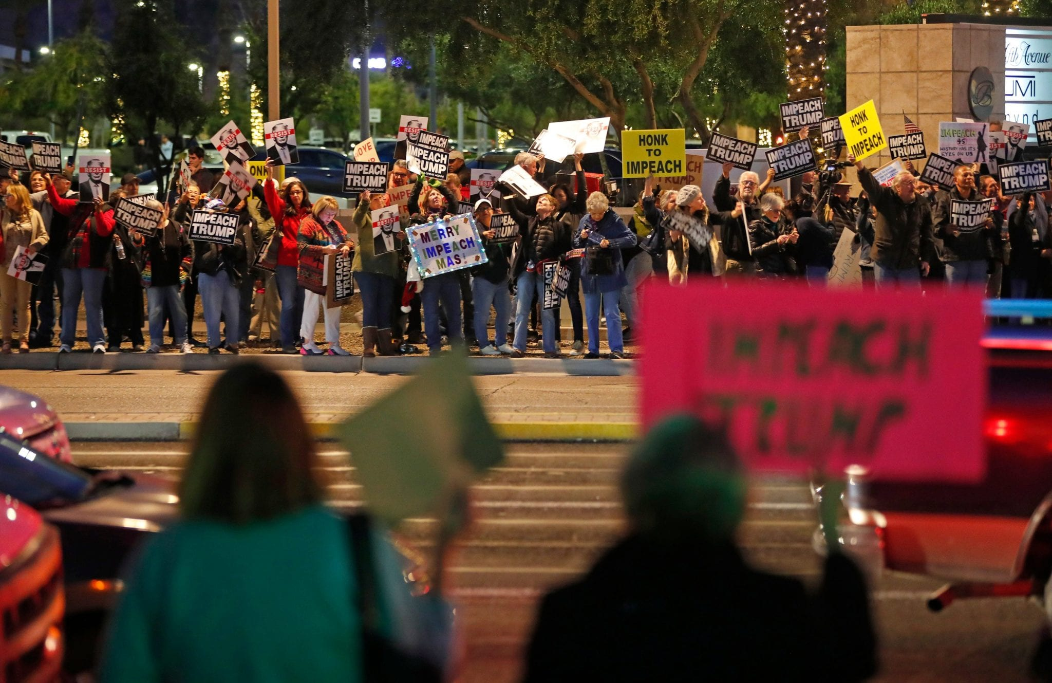 Protesters call for Trump impeachment at Phoenix rally