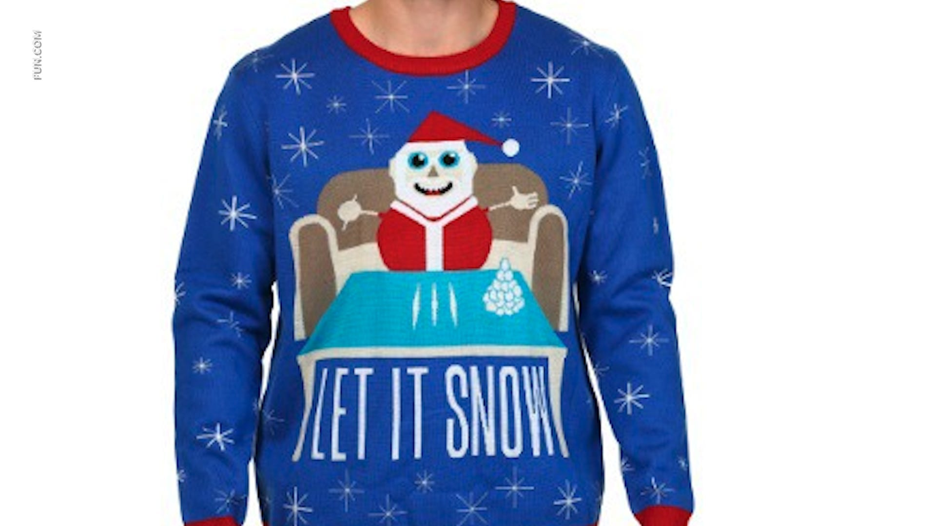 Walmart Canada pulls 'Let It Snow' sweater with Santa, cocaine