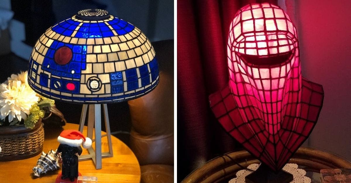 This Etsy Seller Creates Beautiful Handmade Star Wars Themed Tiffany Style Lamps