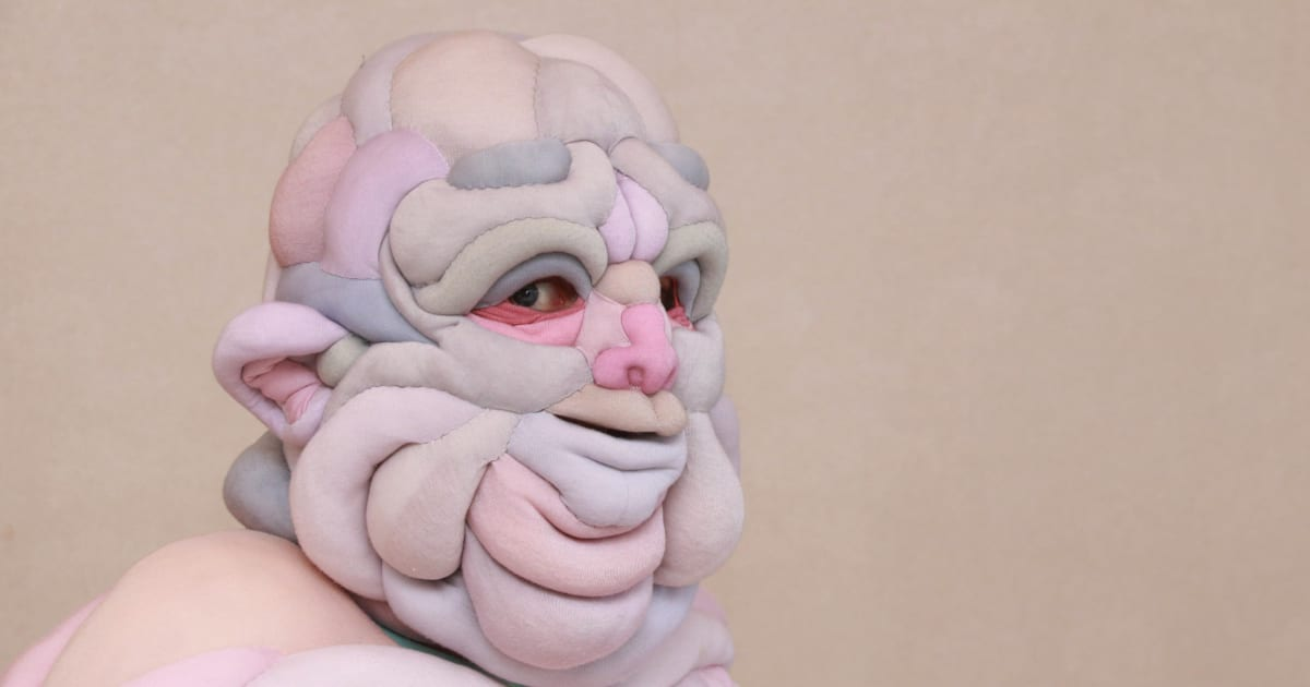 Squishy Flesh Suits Quilted by Textile Artist Daisy Collingridge