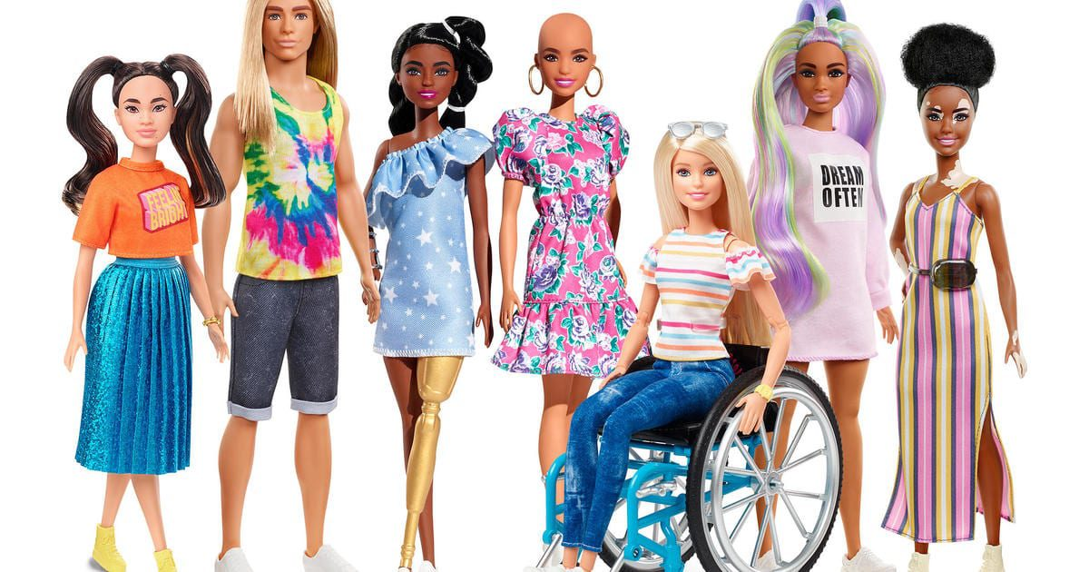 "New Barbie: Dolls with no hair, vitiligo, prosthetic leg added to Mattel's ""most diverse doll line"" yet – CBS News"