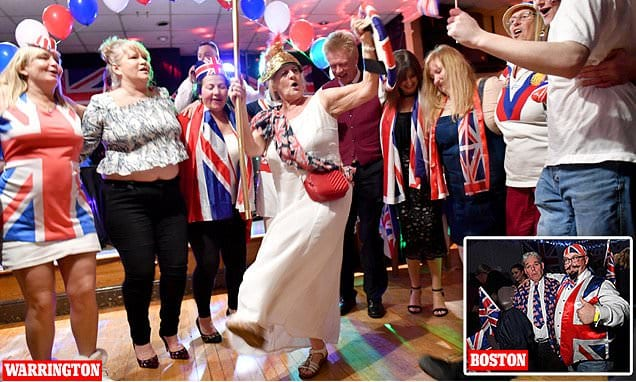 From London to Boston and Warrington, Britons mark Brexit in style | Daily Mail Online