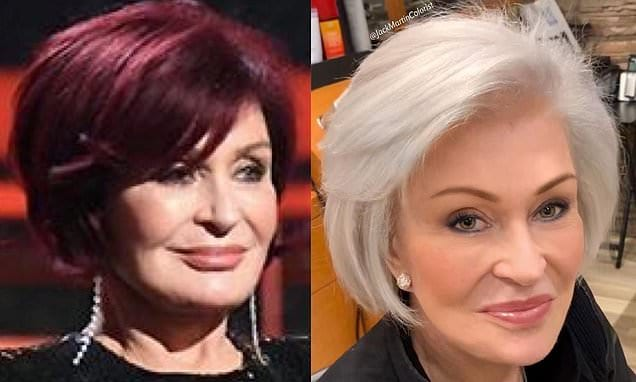 Sharon Osbourne trades in iconic red hair for WHITE tresses after 18 years | Daily Mail Online