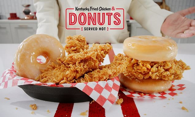 KFC launches a fried hen and donut SANDWICH Daily Mail Online
