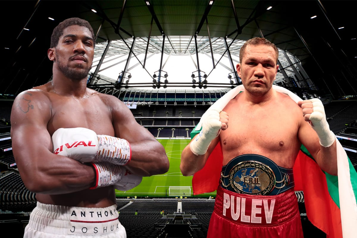 Anthony Joshua set to fight Pulev at Tottenham Stadium with Spurs' ground 'front runner' ahead of Arsenal's Emirates
