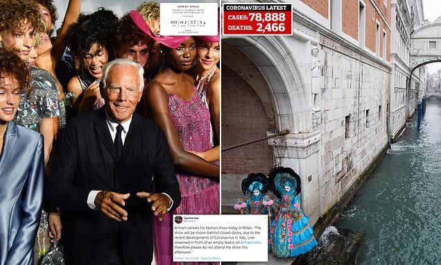 Giorgio Armani terminates Milan fashion program after coronavirus eliminated 2 individuals near the city|Daily Mail Online
