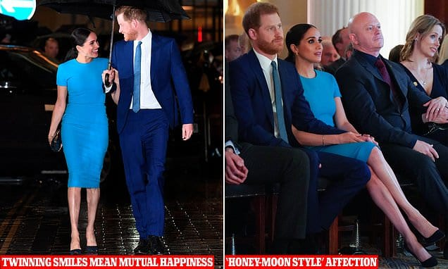 Body language expert reveals Prince Harry and Meghan Markle affectionate style in London | Daily Mail Online