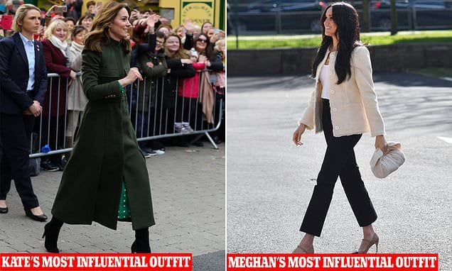 Kate Middleton formally surpasses Meghan Markle as the largest style influencer of 2020|Daily Mail Online