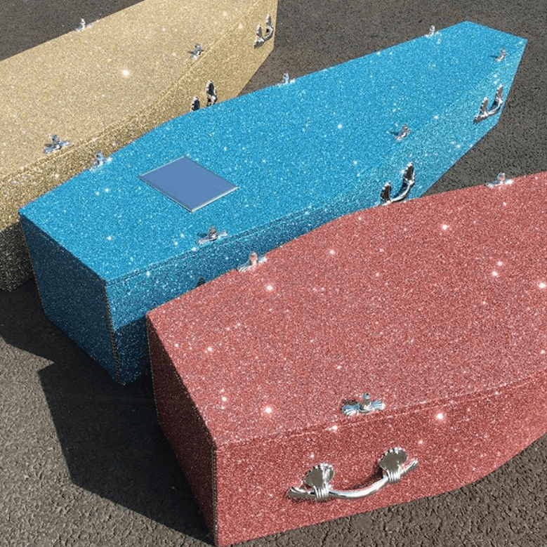 Get Buried In Style With These Glitter Coffins