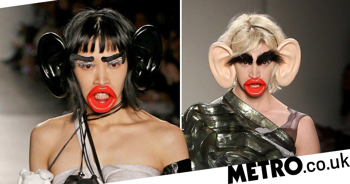 Fashion school apologises for 'clearly racist' runway show with models wearing giant lips