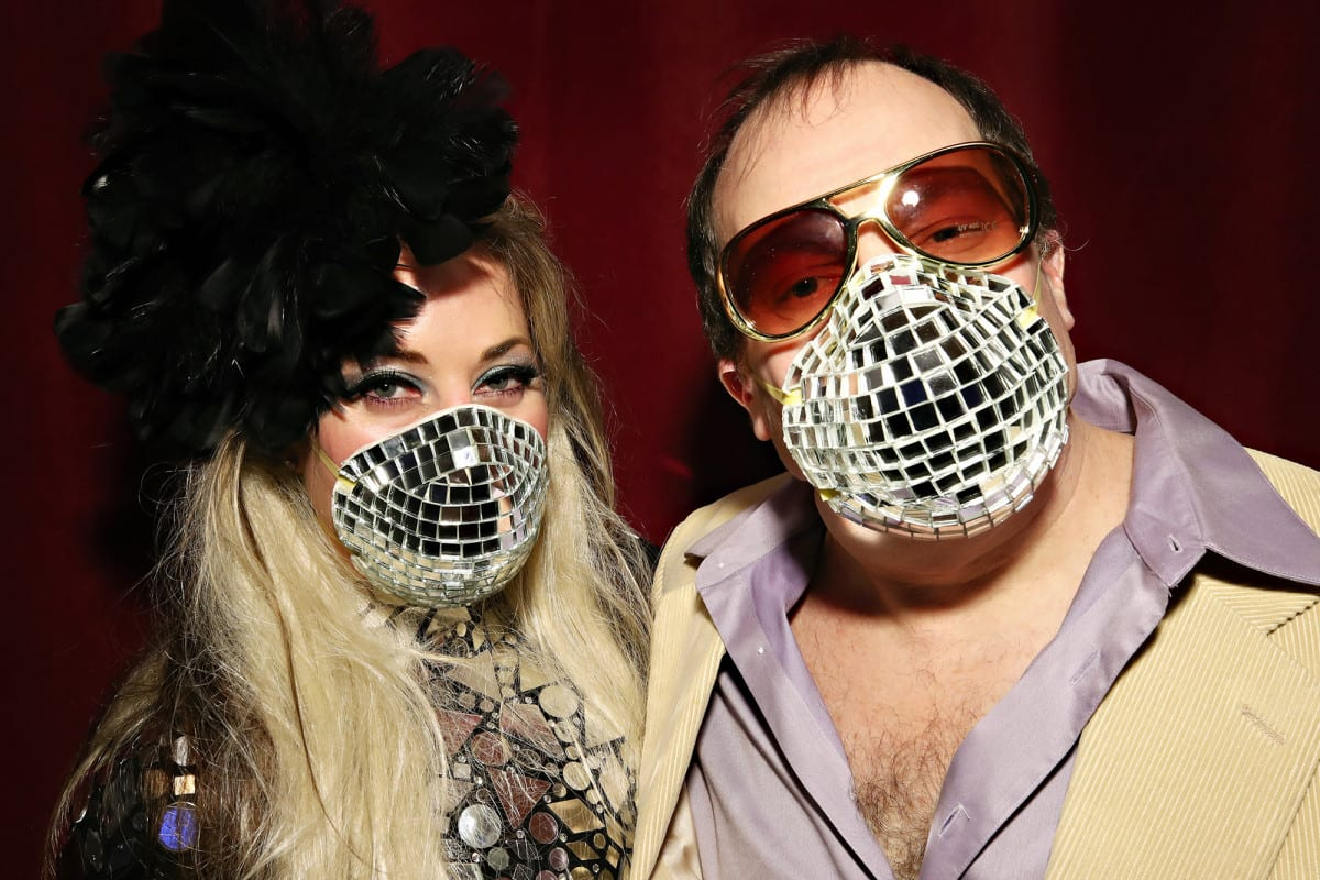 Disco-ball face masks bring flashy fashion to coronavirus pandemic