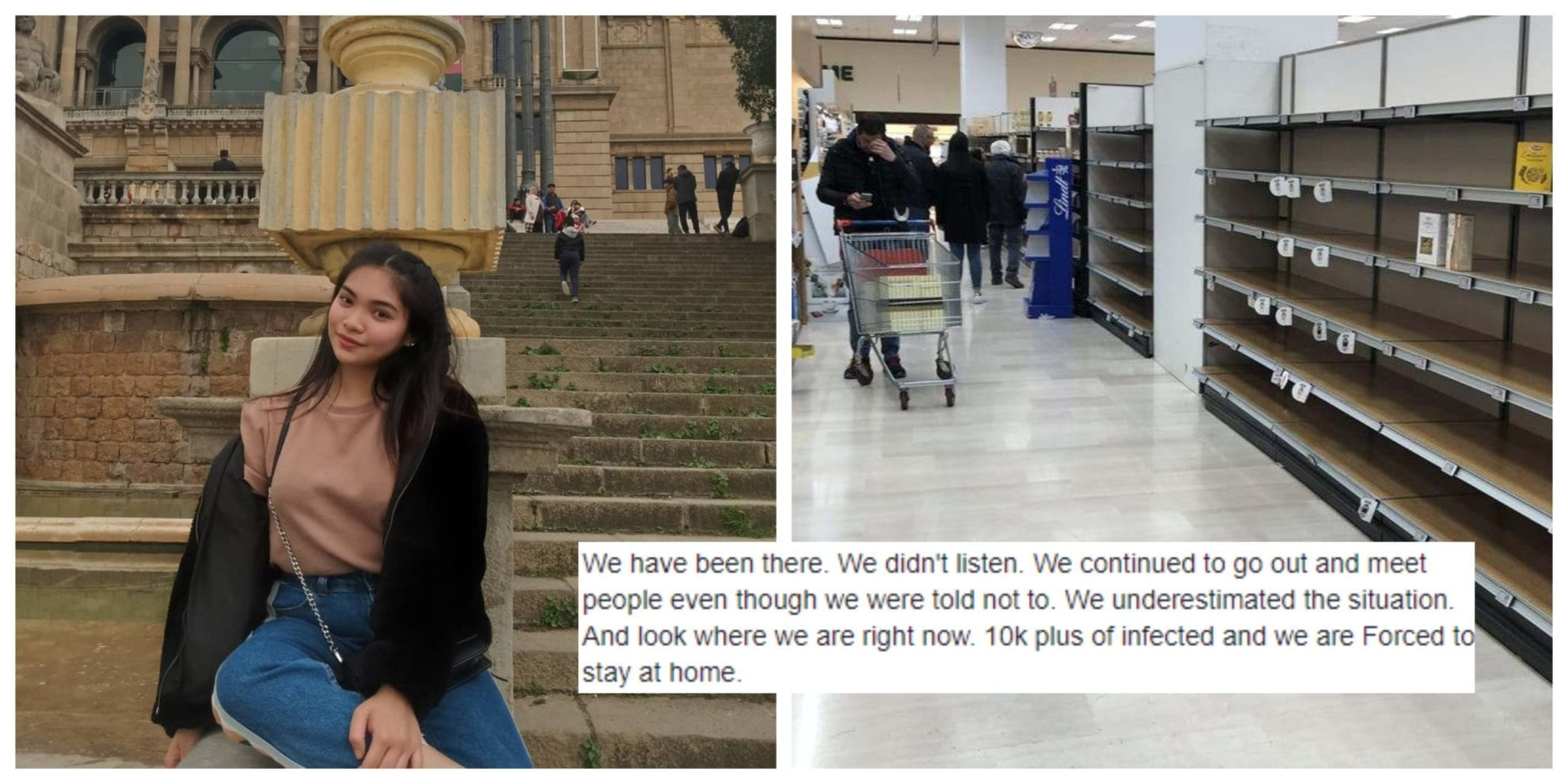 """Filipina from Italy reminds Filipinos to listen to government before its too late: """"Don't make the same mistakes like we did here in Italy!"""""""