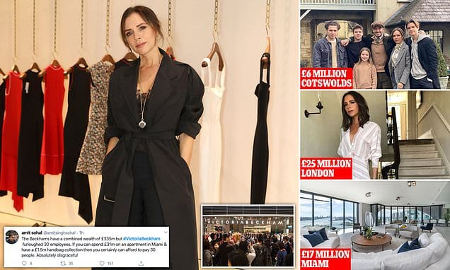 Victoria Beckham slammed by critics after furloughing 30 workers at her struggling fashion label | Daily Mail Online