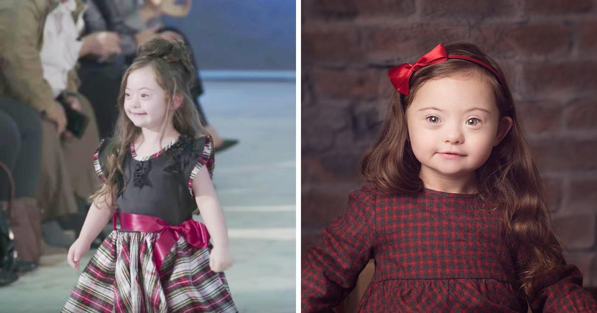 4-Year-Old Girl With Down Syndrome Walks Runway In Fashion Show And It's Heartwarming