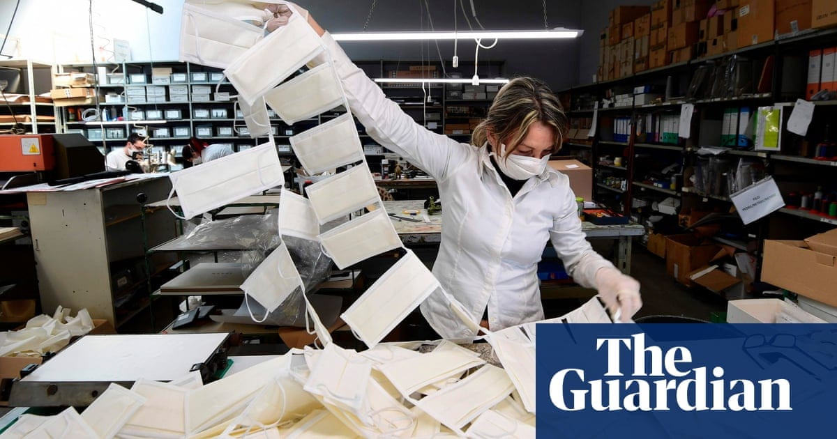 Prada the current style brand to make clinical face masks|Style|The Guardian