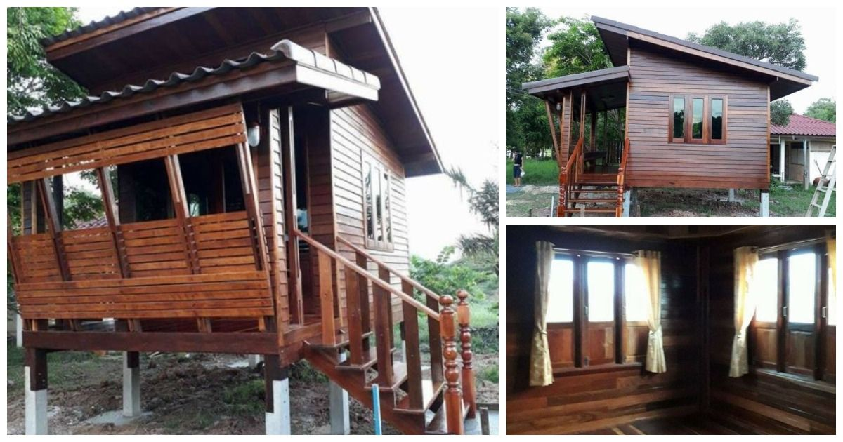 Adorable Thai-Style Wooden Cottage on Slightly Raised Platform