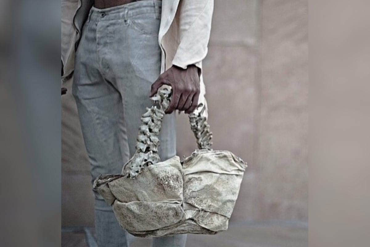 Fashion designer selling handbag he says is made out of human spine