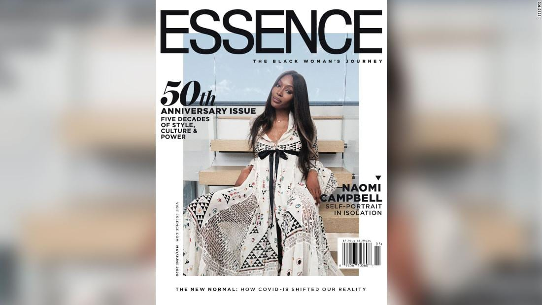 Naomi Campbell, isolated like the rest of us, shot her own Essence cover using an iPhone – CNN Style