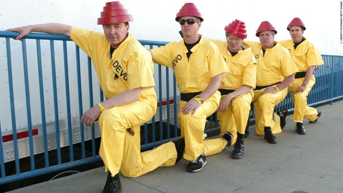 Devo's 'energy dome' face shields bring some retro fashion to the pandemic – CNN