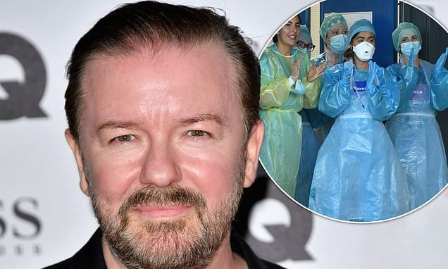 Ricky Gervais calls for celebrities to be banned from Honours List and replaced with NHS heroes | Daily Mail Online