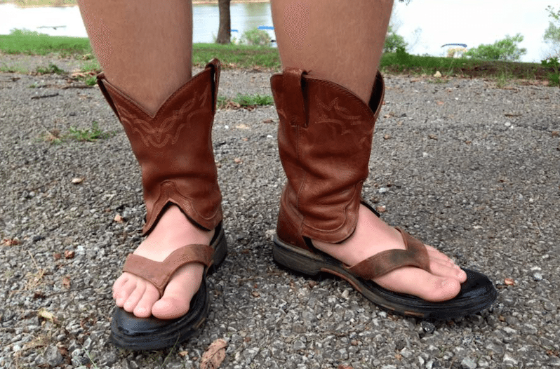 Cowboy Boot Sandals are the Craziest Fashion Trend to Try This Summer