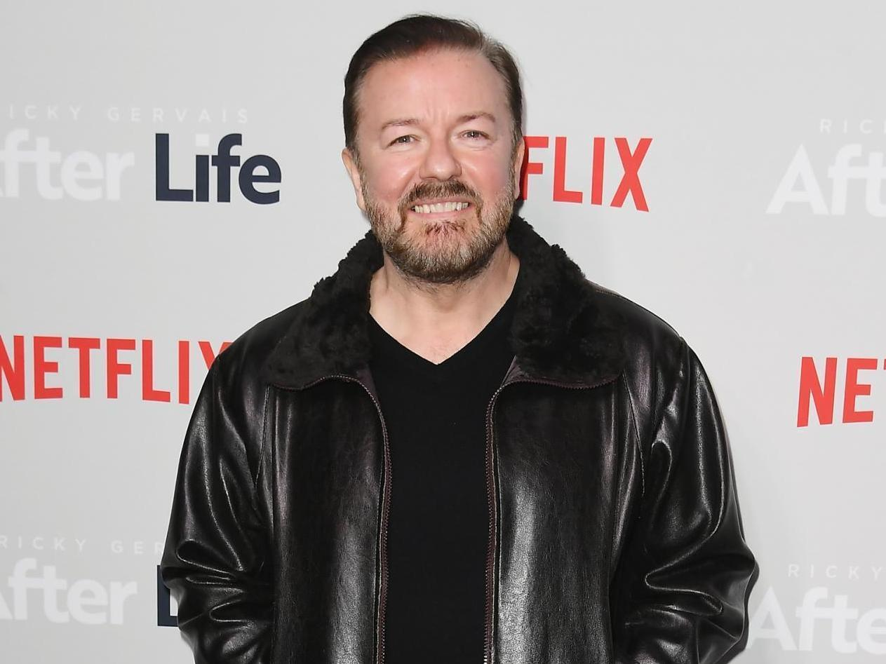Ricky Gervais wants celebrities banned from New Year's Honours listing in favour of NHS employees|The Independent