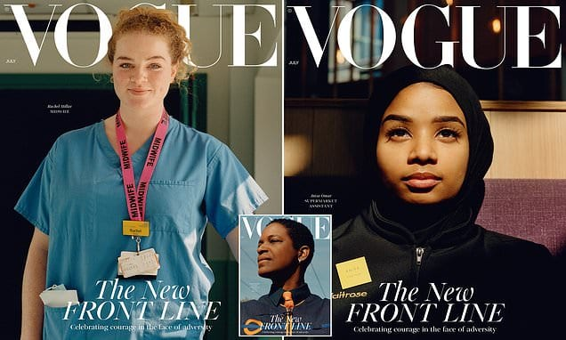 So in Vogue! British fashion bible swaps supermodels for key workers | Daily Mail Online